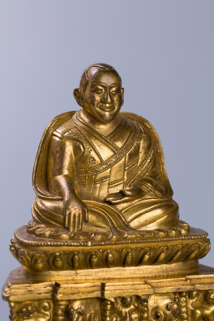 A Chinese Gilt Bronze Buddha Figure - 5