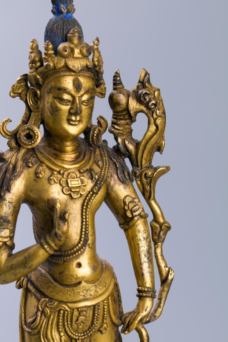 A Chinese Gilt Bronze Buddha Figure - 8