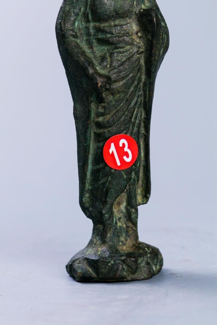A Chinese  Bronze Buddha Figure - 3