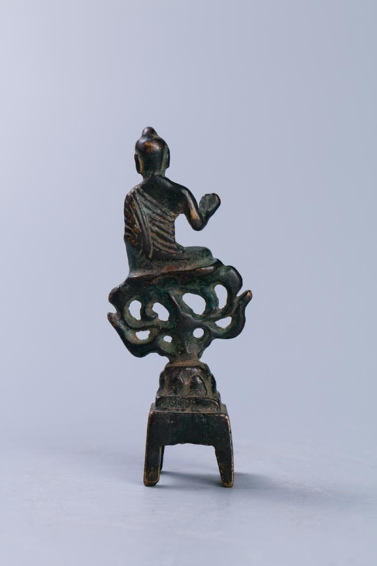 A Chinese Bronze Buddha Figure - 2