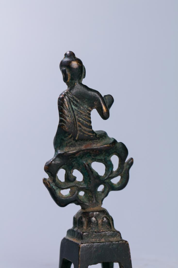A Chinese Bronze Buddha Figure - 4