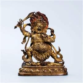 Vintage Chinese Gilt Bronze Buddha Figure