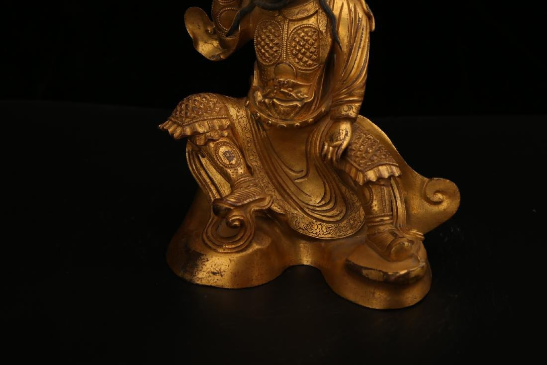 A CHINESE GILT BRONZE FIGURE OF BUDDHA - 5