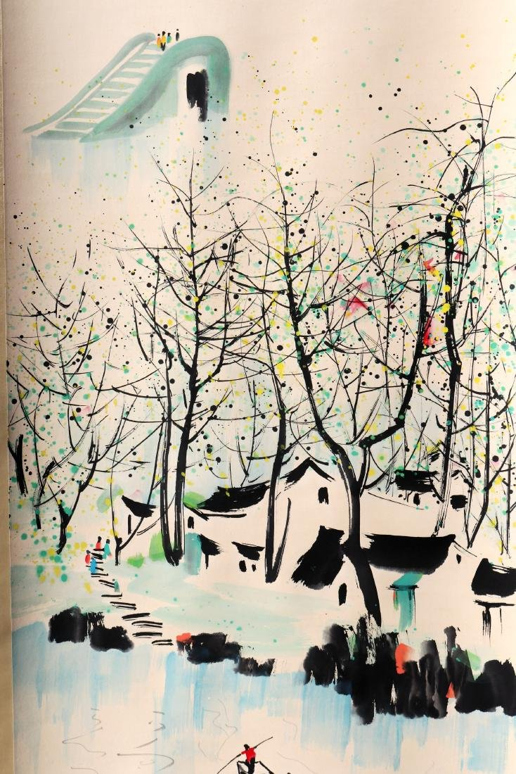 A Chinese Scroll Painting (Attributed to Wu Guanzhong) - 2