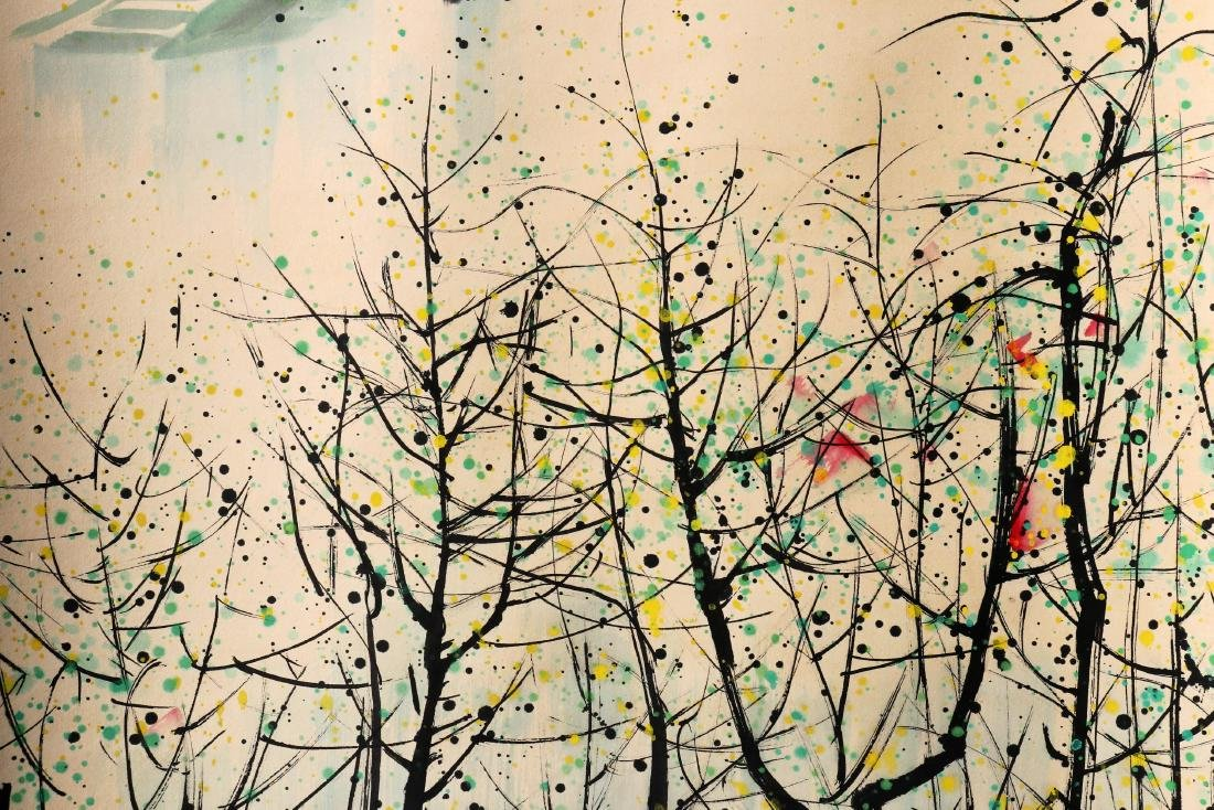 A Chinese Scroll Painting (Attributed to Wu Guanzhong) - 4