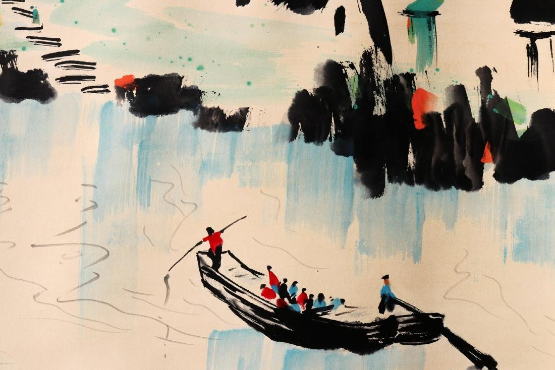 A Chinese Scroll Painting (Attributed to Wu Guanzhong) - 5