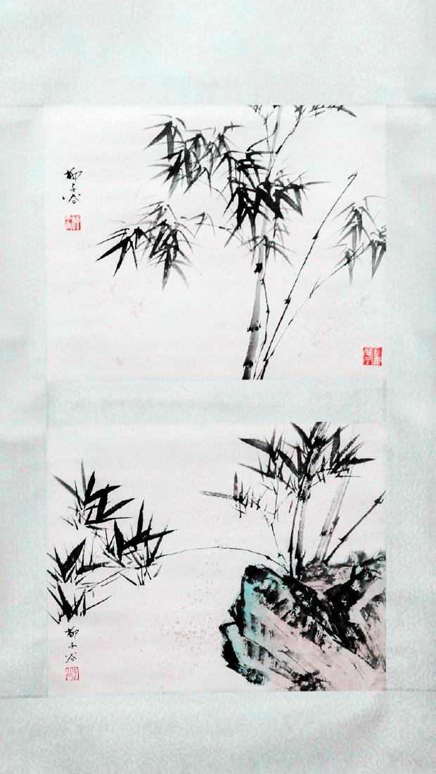 A CHINESE SCROLL PAINTING ATTRIBUTED TO LIU ZIGU
