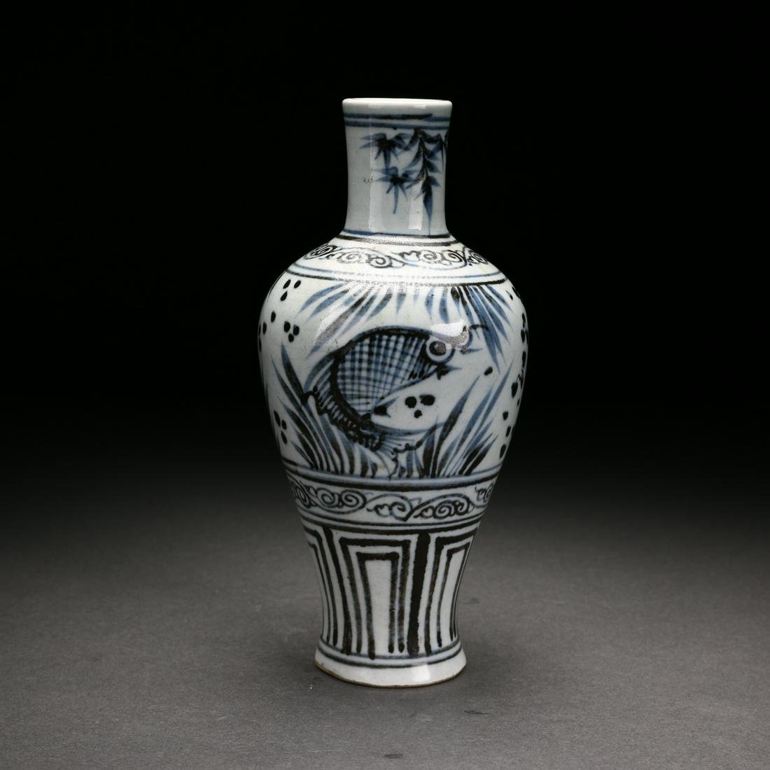 A Chinese Antique Blue and White Porcelain Vase