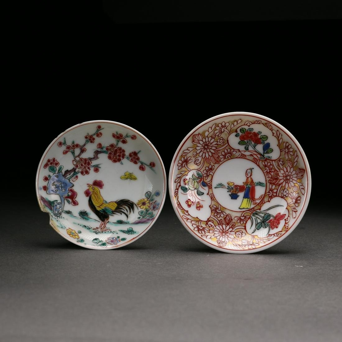 Two Chinese Famille Rose Plate, Qing Dynasty