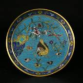 A Chinese cloisonné enameled dish,Qing dynasty