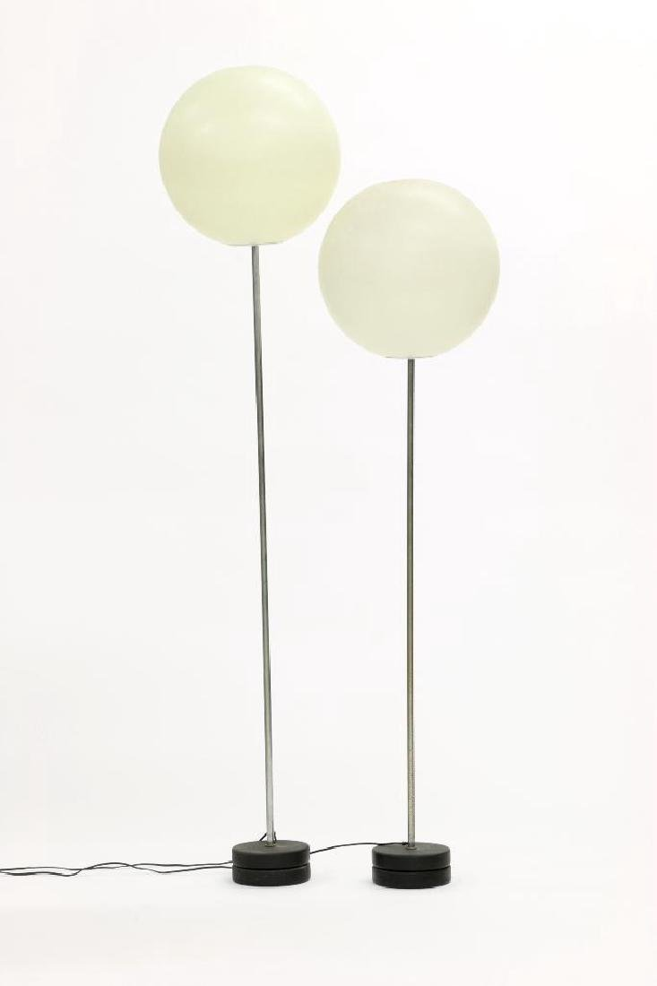 Robert Sonneman Lollipop Globe Floor Lamps