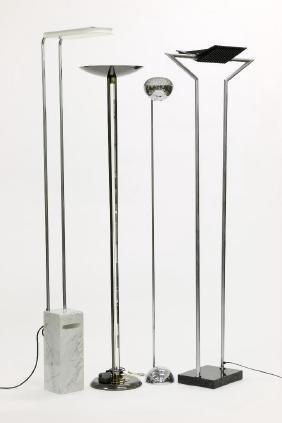 Group of Four Modern Design Floor Lamps