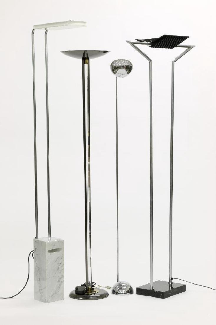Group of Four Modern Design Floor Lamps