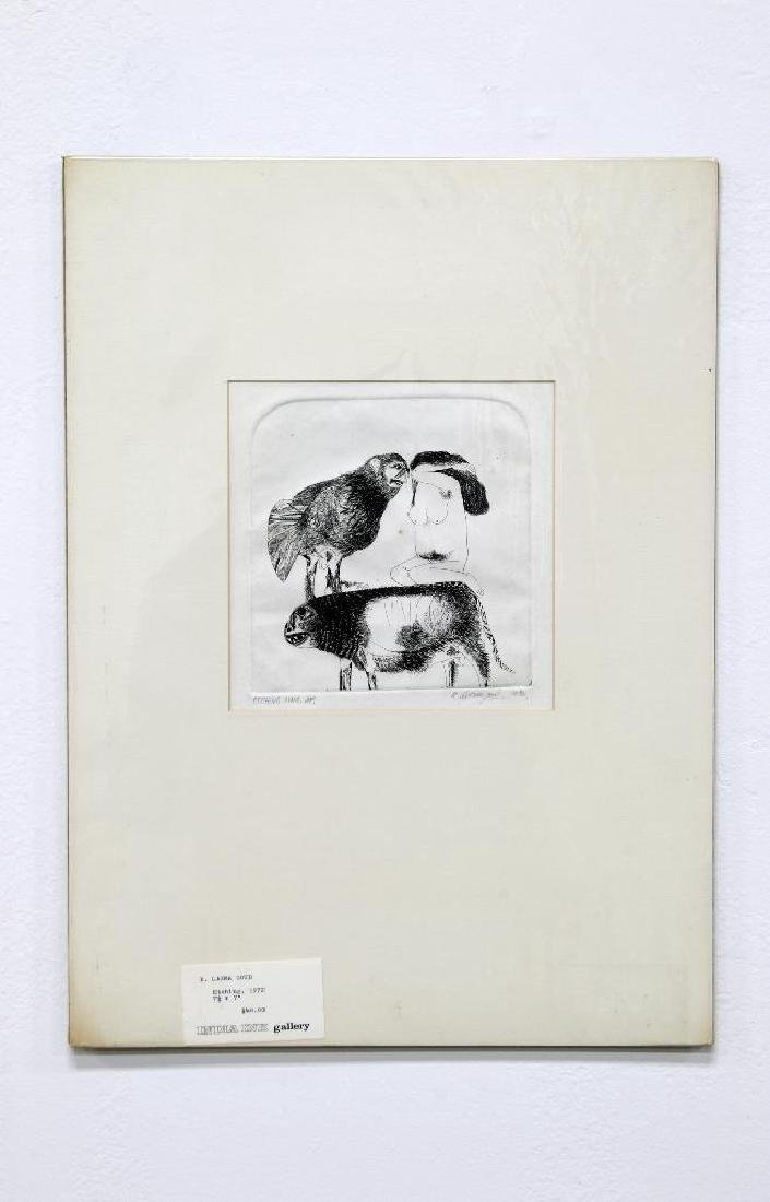 K. Laxma Goud (b. 1940) India Zinc Etching, 1972