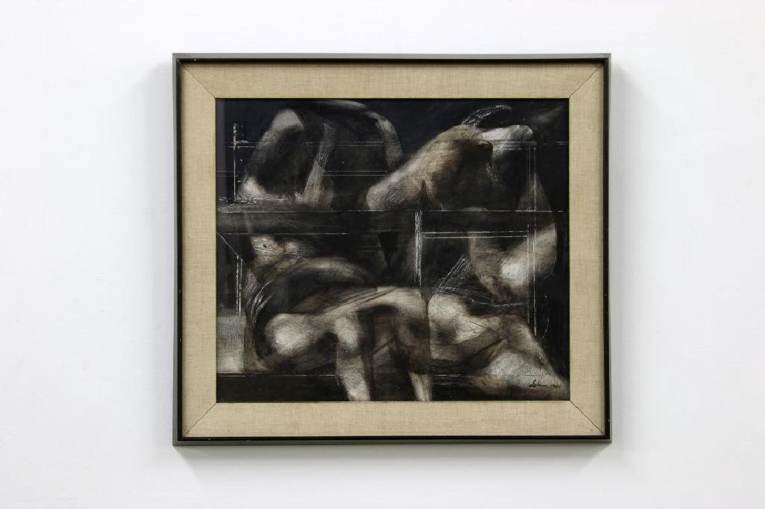 Rico LeBrun (1900-1964) ink wash on paper