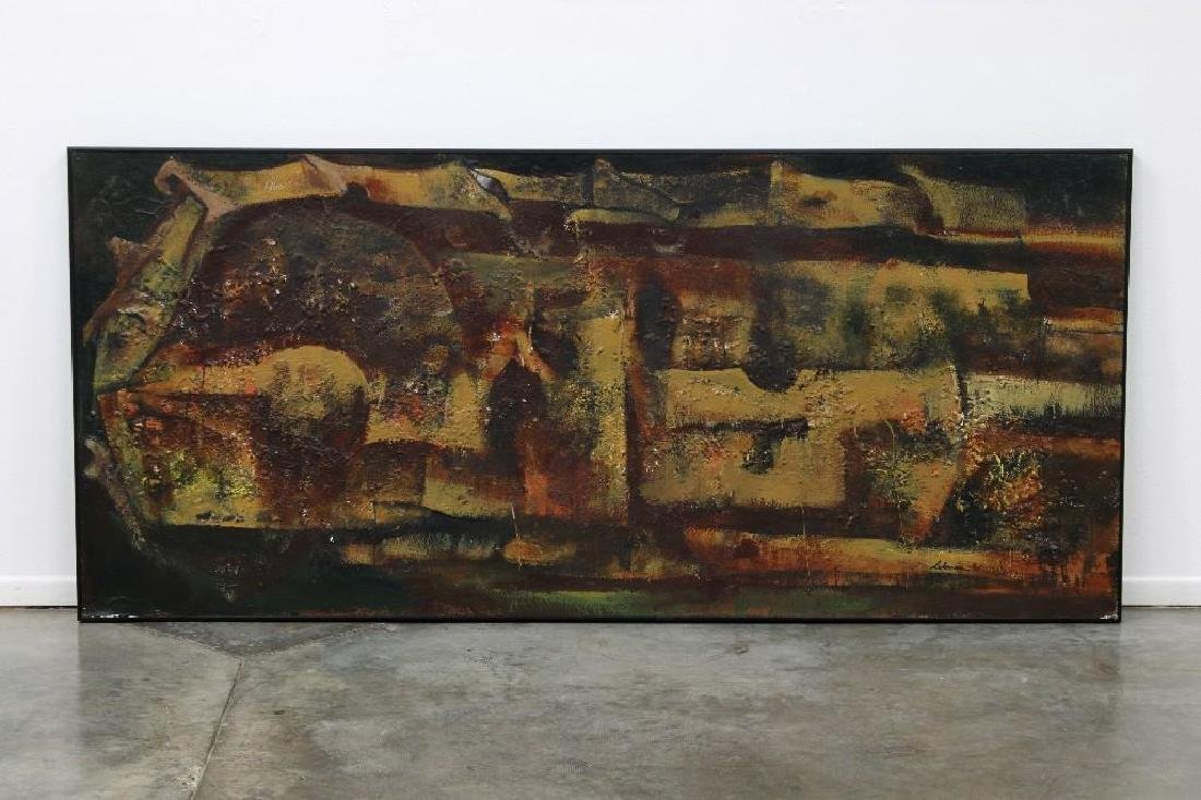 Rico LeBrun (1900-1964) Large Mixed Media Painting
