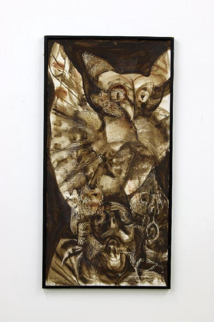 Rico LeBrun (1900-1964) Oil on Panel, 1957