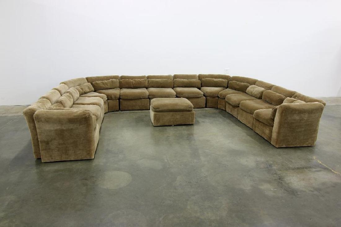 Custom Modular Sectional Sofa Inspired by Milo Baughman