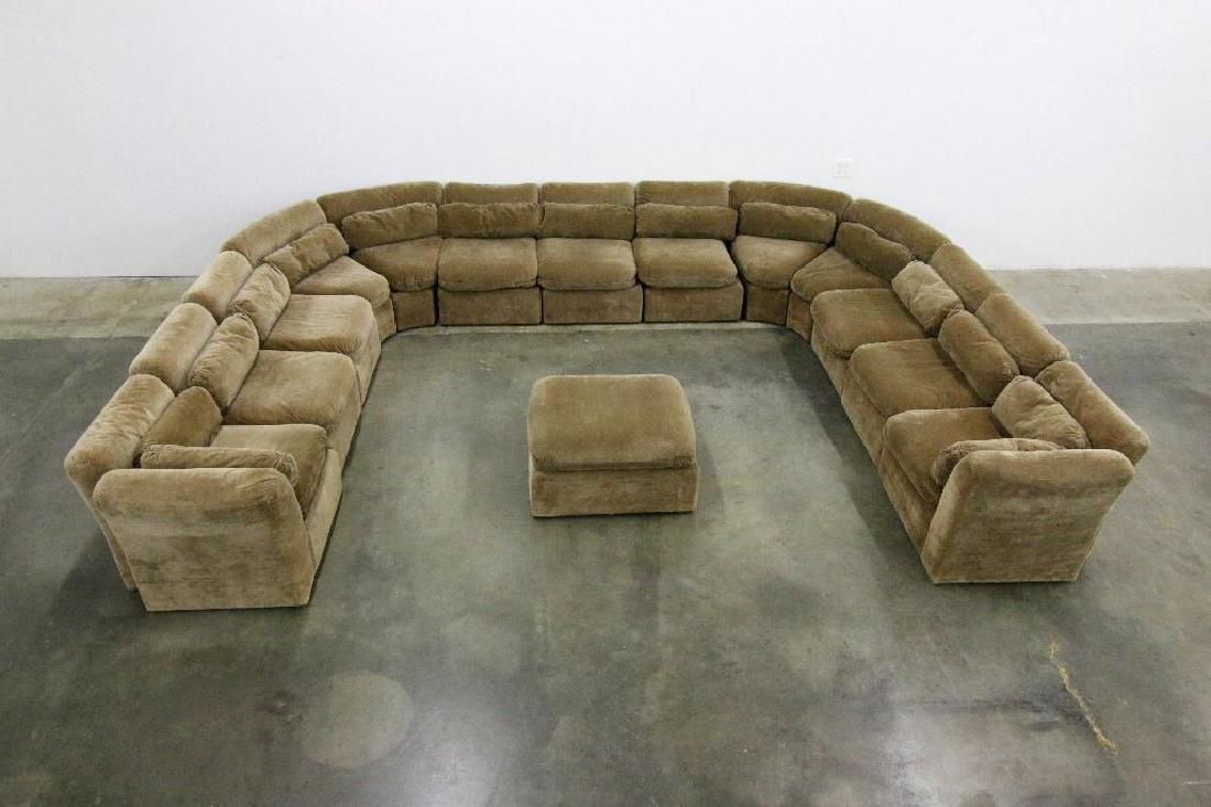 Custom Modular Sectional Sofa Inspired by Milo Baughman - 2