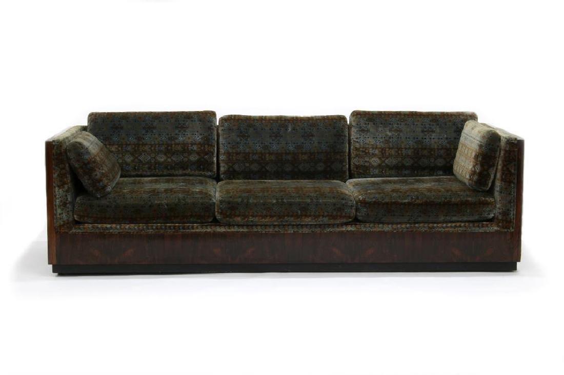 Milo Baughman Rosewood Sofa Jack L. Larsen Upholstery