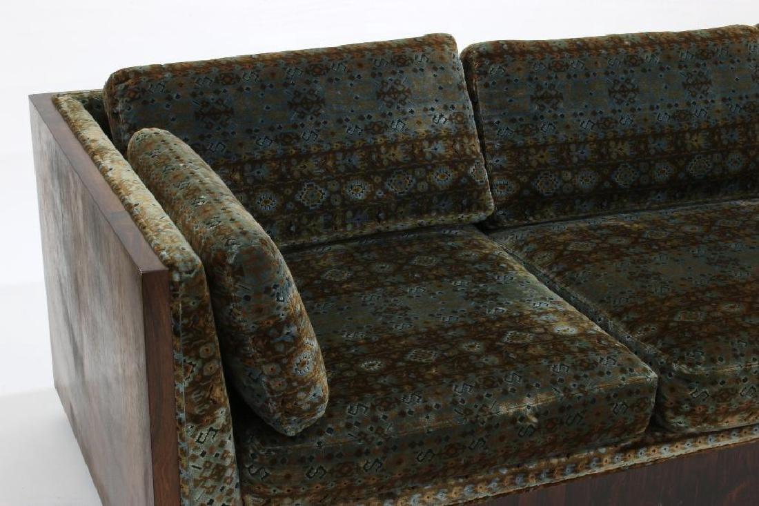 Milo Baughman Rosewood Sofa Jack L. Larsen Upholstery - 2