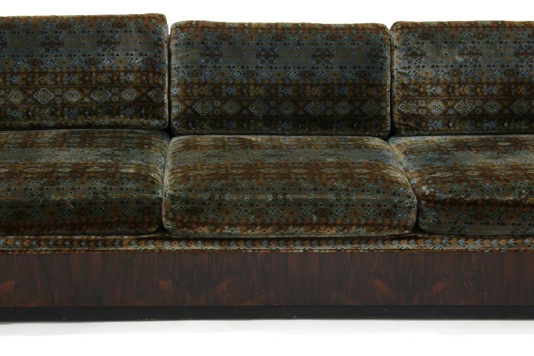 Milo Baughman Rosewood Sofa Jack L. Larsen Upholstery - 3
