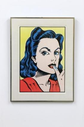 John Van Hamersveld 'Blue Thumb' Poster, 1971