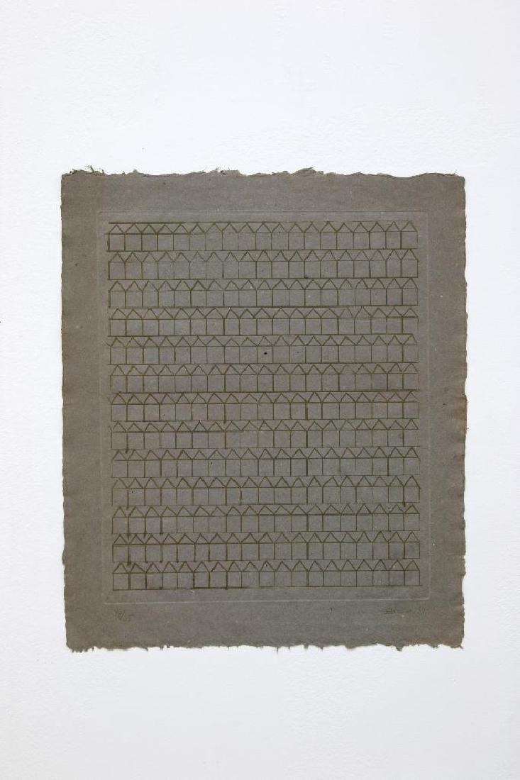 Hashmi Zarina (b. 1937) Signed Print on Handmade Paper