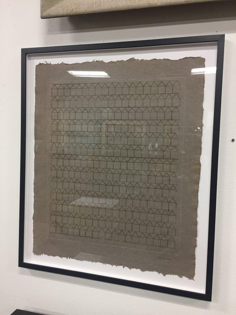 Hashmi Zarina (b. 1937) Signed Print on Handmade Paper - 4