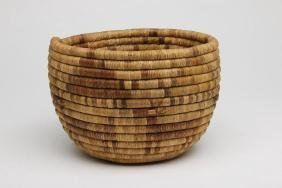 Hopi Coiled Basketry Bowl Detailed With Horses