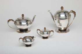 William Spratling Mexican Silver 4pc Coffee Tea Service