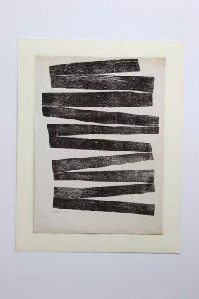 Hashmi Zarina Signed Print On Handmade Paper 1968