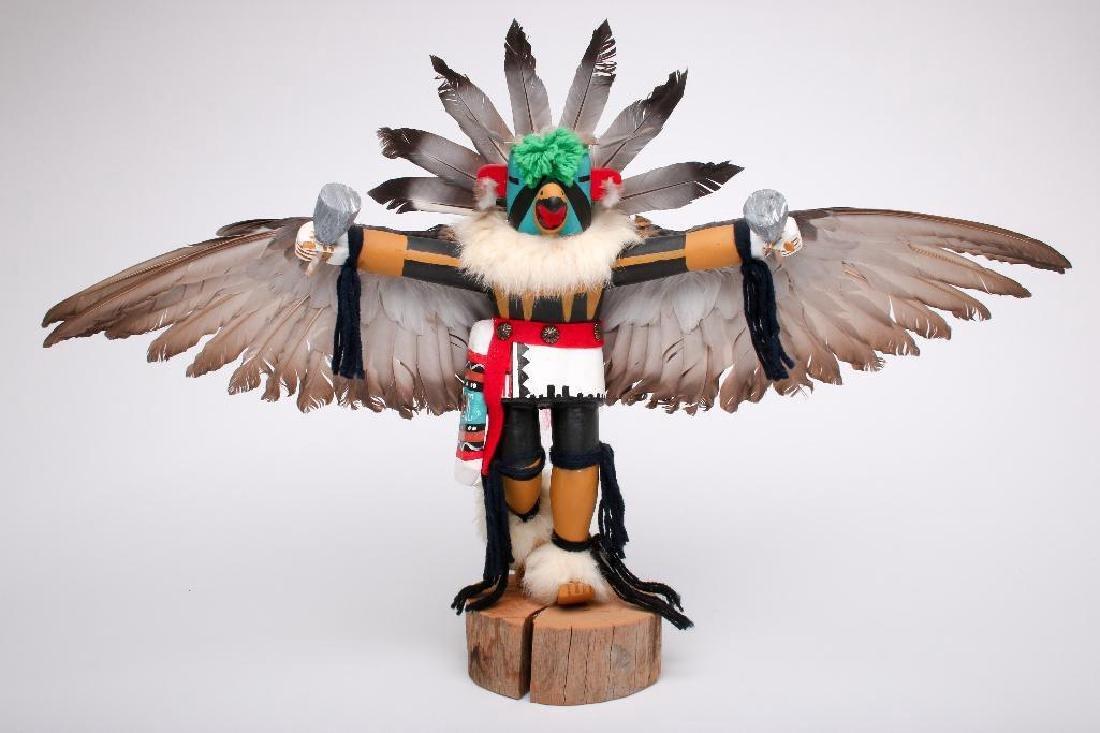 "J. Creek 1960s Hopi Kachina Eagle Dancer Large 17"""