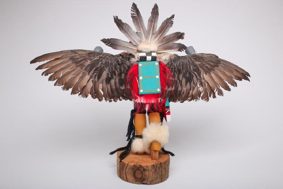 "J. Creek 1960s Hopi Kachina Eagle Dancer Large 17"" - 3"