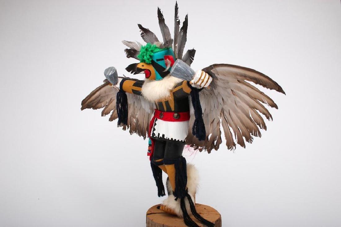 "J. Creek 1960s Hopi Kachina Eagle Dancer Large 17"" - 4"