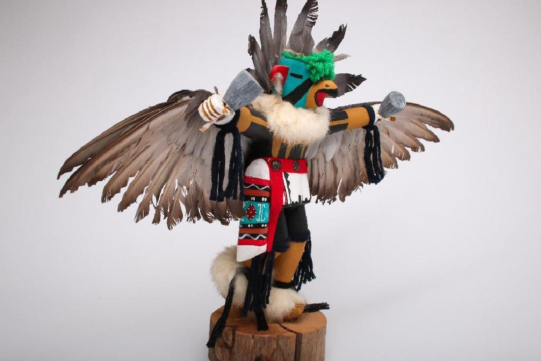 "J. Creek 1960s Hopi Kachina Eagle Dancer Large 17"" - 5"