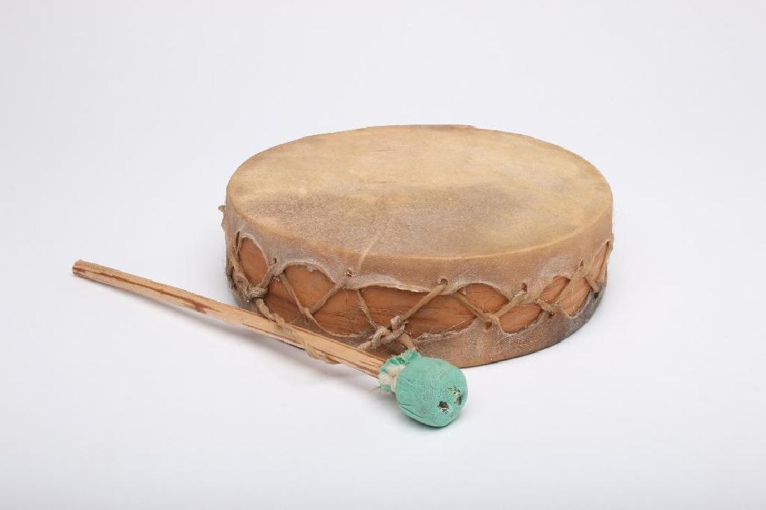 Tarahumara Mexico Rawhide Indian Drum
