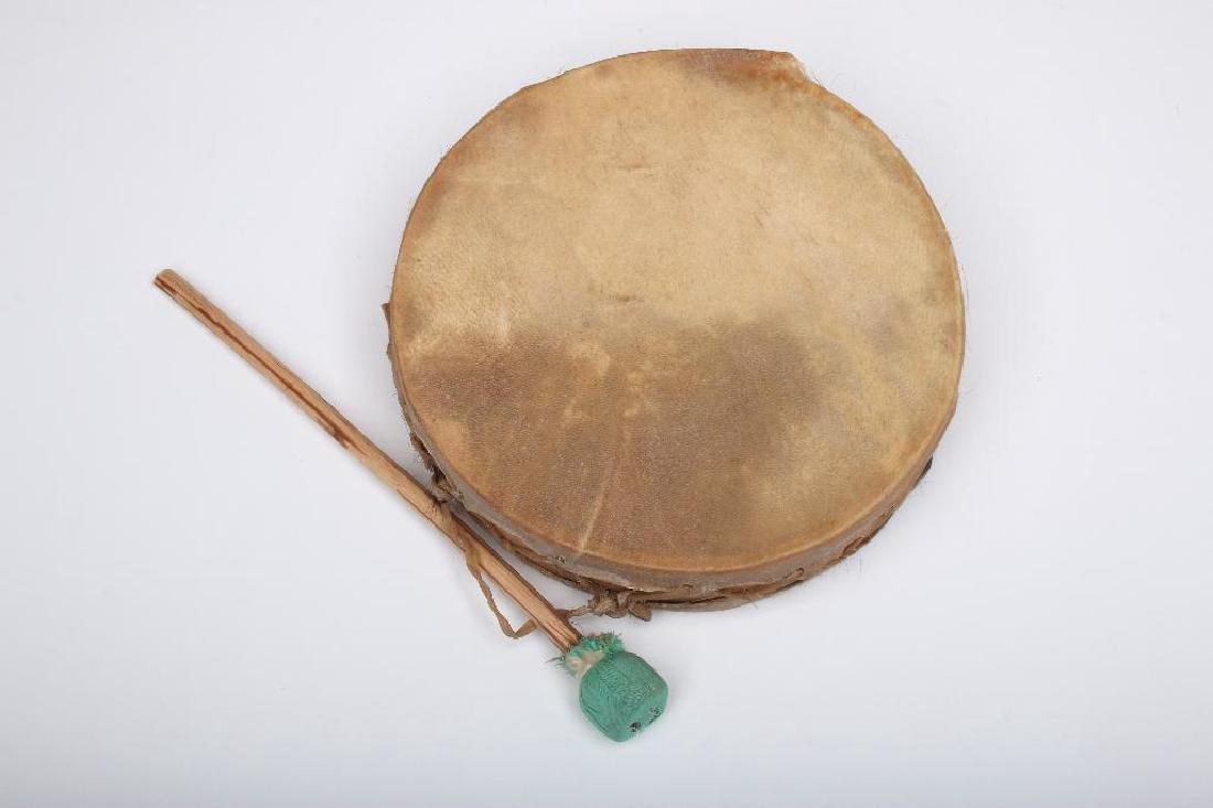 Tarahumara Mexico Rawhide Indian Drum - 2