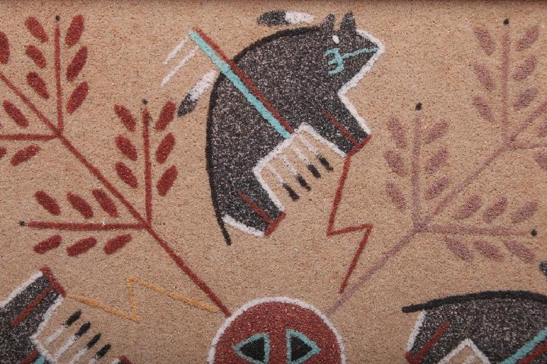 Debbie Clark Whirling Buffalo Sand Painting Shiprock NM - 3