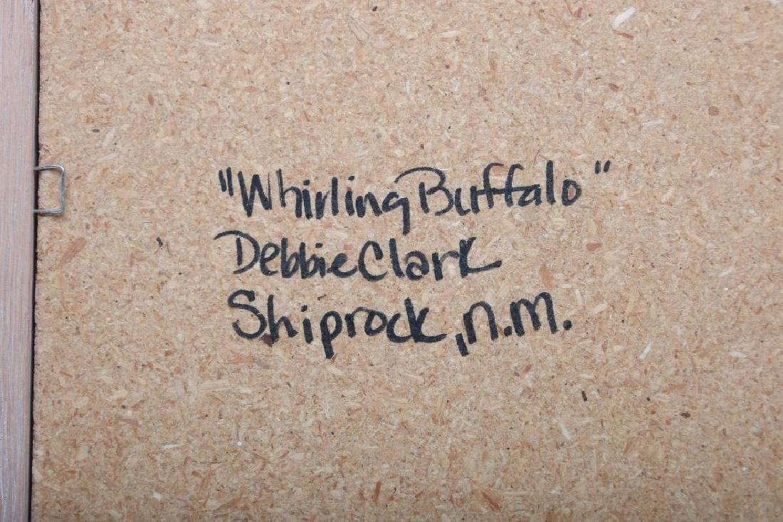 Debbie Clark Whirling Buffalo Sand Painting Shiprock NM - 5