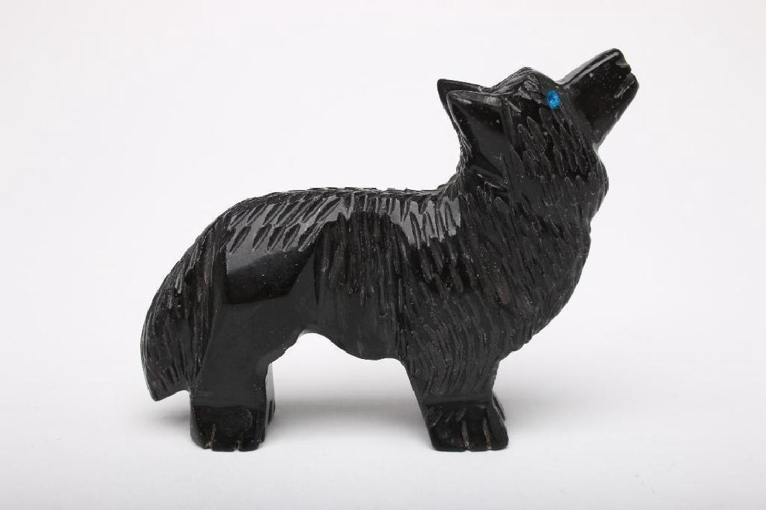 Zuni Indian Carved Stone Wolf Fetish