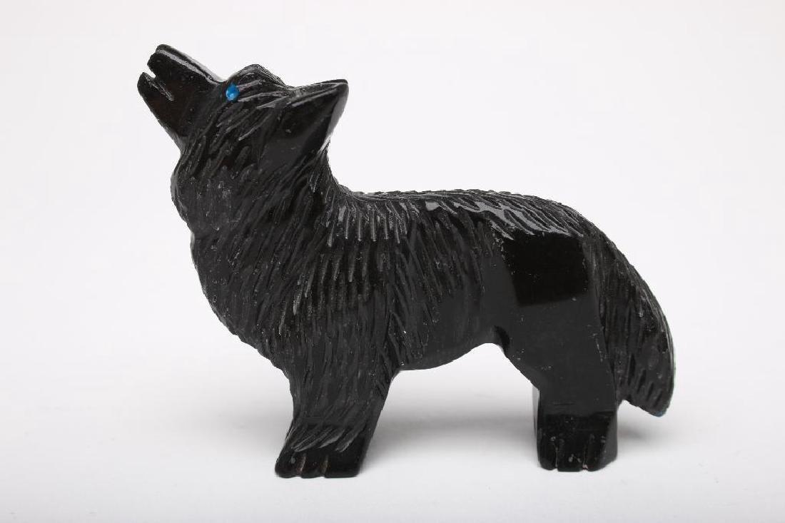 Zuni Indian Carved Stone Wolf Fetish - 2