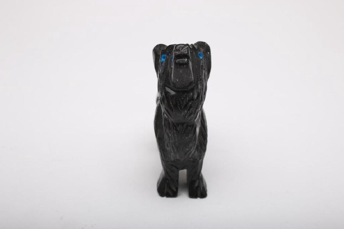 Zuni Indian Carved Stone Wolf Fetish - 3
