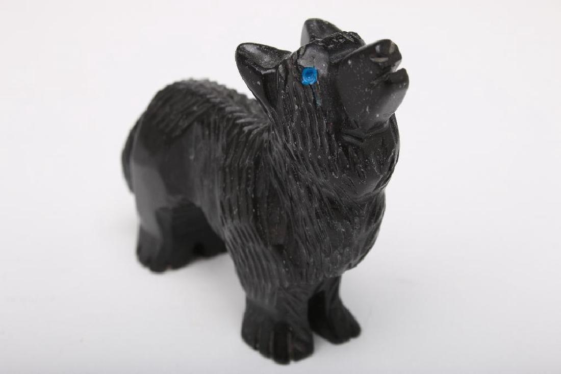 Zuni Indian Carved Stone Wolf Fetish - 5