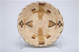 Papago Indian Native American Woven Basket Bowl