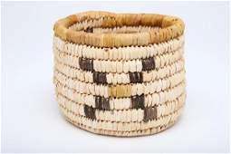 Native American Papago Indian Coiled Basket