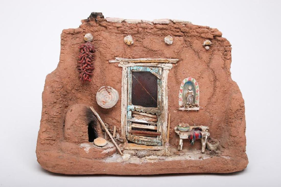 Tim Prythero New Mexico Adobe Home Miniature Hydrostone