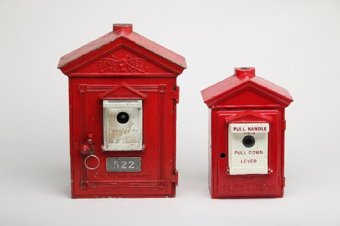 Group of Vintage Gamewell Fire Alarm Boxes
