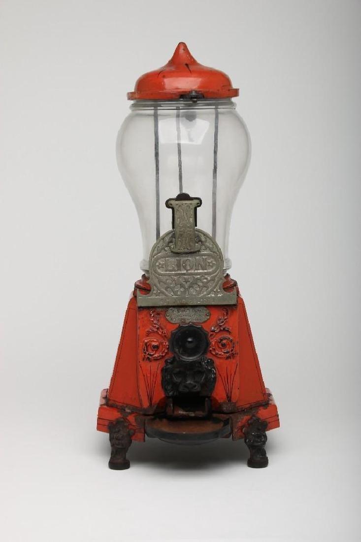 Red Lion Hourglass Globe Gumball Vending Machine