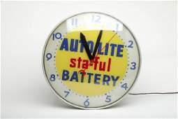 Autolite Staful Battery Dealer Advertising Wall Clock